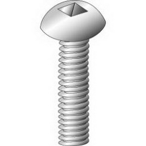 Cully 22628 Combo Square/Slotted Round Head Machine Screw 8-32  1-3/4 Inch Length  Steel  Zinc-Plated