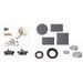 BWF/Teddico PL-5/4V Closure Plug; 1/2 Inch, Gray