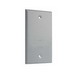 TayMac BC100S 1-Gang Blank Cover; Steel, Gray, Screw Mount