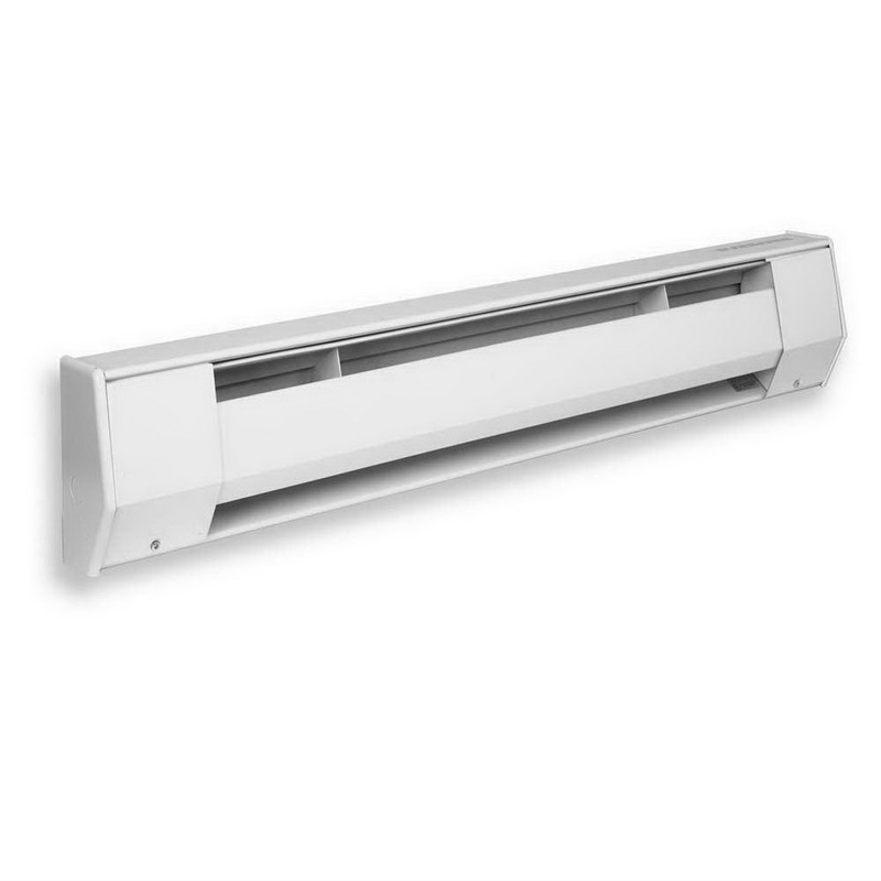 King Electrical 5K2012BW Baseboard Heater 1250 Watt, 208 Volt, Wall Mount 20 Gauge Electrogalvanized Front Cover, 22 Gauge Back Can, Bright White, Baked Enamel,""