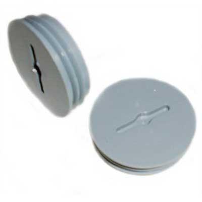 Mulberry 30294 Round Slotted Closure Plug; 1 Inch, Die-Cast Zinc