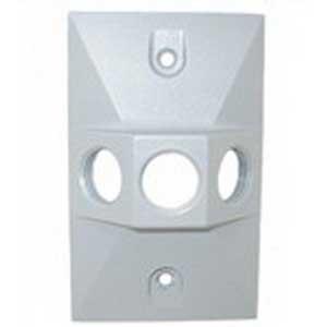 Mulberry 30361 Rectangular Cover; Die-Cast Zinc, Box, Vertical/Horizontal Mount