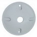 Mulberry 30367 Round Weatherproof Cover; Die-Cast Zinc, Gray, Vertical/Horizontal Mount