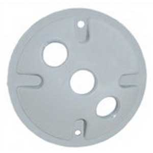Mulberry 30377 Round Weatherproof Cover; Die-Cast Zinc, Gray, Vertical/Horizontal Mount