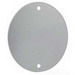 Mulberry 30381 Round Weatherproof Blank Cover; Stamped Aluminum, Gray, Vertical/Horizontal Mount