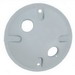 Mulberry 30367W Round Weatherproof Cover; Die-Cast Zinc, White, Vertical/Horizontal Mount