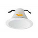 Elite Lighting AF631W Round 6 Inch Self Flange Air-Shut Baffle Trim; White
