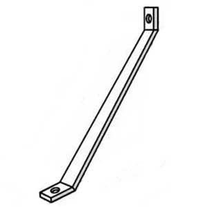 Superstrut AB239-2-EG 2-Hole Knee Brace; Steel, SilverGalv™