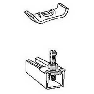Superstrut AB242EG 1-Hole Square Washer; Steel, SilverGalv™