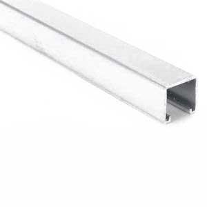 Superstrut A1200-20AL Solid Base Standard Channel; 12 Gauge, 20 ft x 1-5/8 Inch x 1-5/8 Inch, Aluminum, GoldGalv®