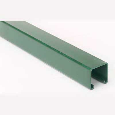 Superstrut A1400-10GR Metal Single Channel; 14 Gauge, 10 ft x 1-5/8 Inch x 1-5/8 Inch, Steel, Green Epoxy Paint