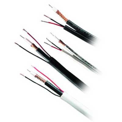 Genesis Cable 50131008 RG59/U Coaxial Cable; 300 Volt, 1000 ft Reel, Bare Copper, Black