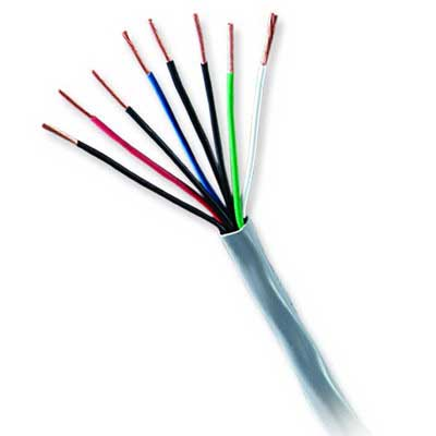 Genesis Cable 31261112 CL2P/CMP Jacketed Cable; 18 AWG, 16/30 Stranded, Natural, 1000 ft Pull Box