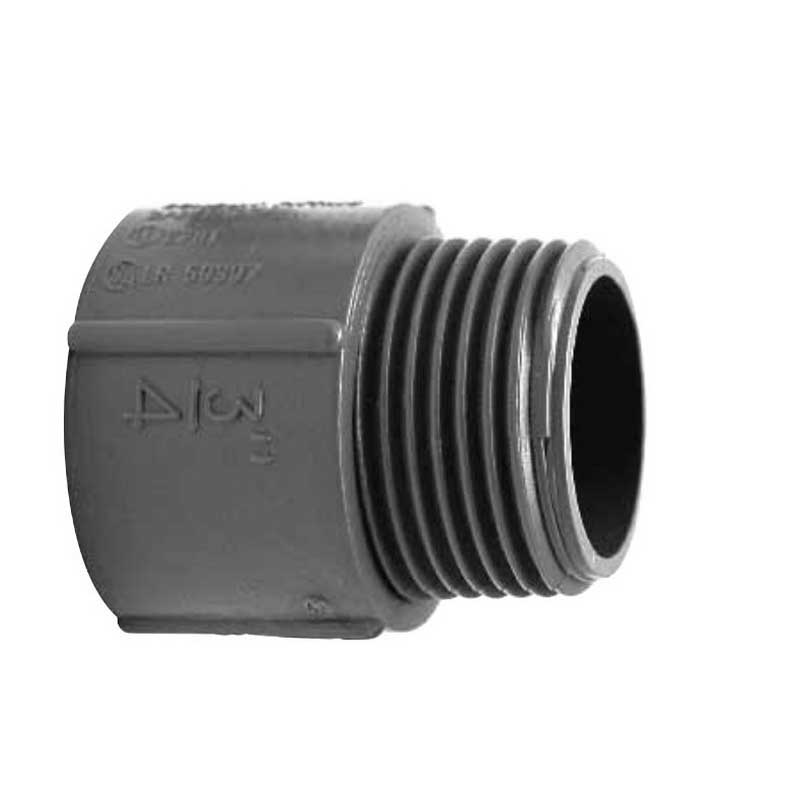 Scepter 078087 TA12 Kraloy® Terminal Adapter; 1-1/4 Inch, PVC