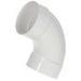 Scepter 078540 40STD0590 Kraloy® Standard Radius 90 Degree Conduit Elbow; 1/2 Inch, Spigot x Spigot, PVC, SCH 40