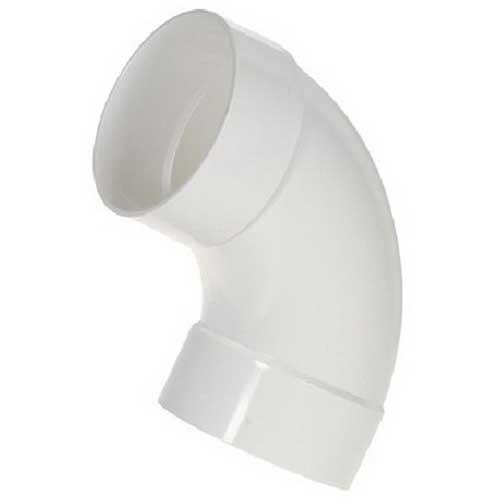 Scepter 078549 40STD4090 Kraloy® Standard Radius 90 Degree Conduit Elbow; 4 Inch, Spigot x Spigot, PVC, SCH 40