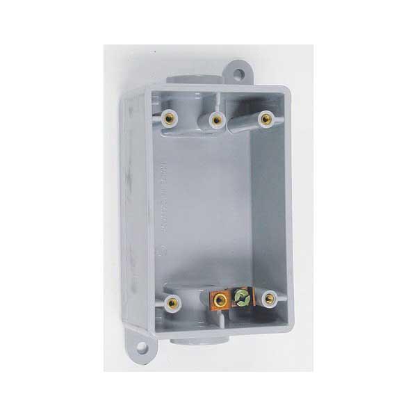 Scepter FSCD050710 1-Gang FSC Deep Box; 2.760 Inch Depth, PVC, 26 Cubic-Inch