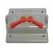 Scepter VSC20-2 2-Gang Weatherproof FS Box Cover; PVC, Box Mount, (2) Toggle Switch
