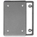 Scepter BRC-15/10 1-Gang Blank Plate With Gasket; Polycarbonate Plastic, Box Mount