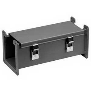 Hammond 1485D36 1485 Series Lay-In Wireway; 36 Inch x 7.630 Inch x 7.630 Inch, 14 Gauge Steel, ANSI 61 Powder