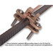 Galvan JRD Bronze Alloy Lay-In Direct Burial Ground Clamp; 3/8 - 1/2 - 1 Inch, 10 AWG Solid-2 AWG Stranded