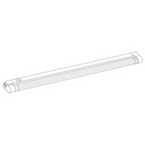 Elco EUS43W Slimline Non-Dimmable LED Undercabinet Light; 120 Volt AC, Polycarbonate, White, 22-1/2 Inch