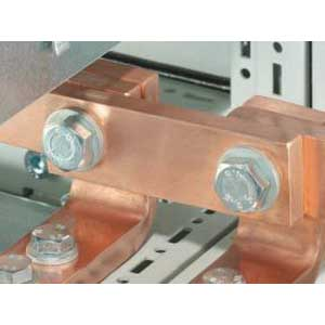 Rittal 9661350 SV Baying Bracket; 11mm Hole, 30 mm x 10mm x 95mm, Electrical Grade Copper