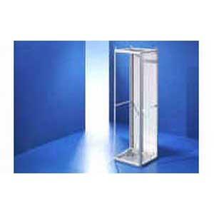 Rittal 9670686 Ri4 Modular Enclosure 23.600 Inch Width x 23.600 Inch Depth x 70.900 Inch Height- 16 Gauge Sheet Steel- RAL 7035 Light Gray-