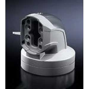 Rittal 6206380 90 Degree Enclosure Coupling; 130 mm, Cast Aluminum/Die-Cast Zinc, Plastic Cover, RAL 7035, RAL 7024 Cover
