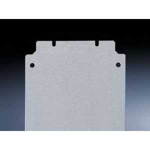 Rittal 1562700 Mounting Plate; 2-mm Sheet Steel, Zinc-Plated