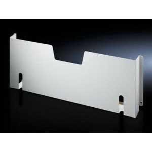 Rittal 4124000 Wiring Plan Pocket; Sheet Steel, RAL 7035 Light Gray