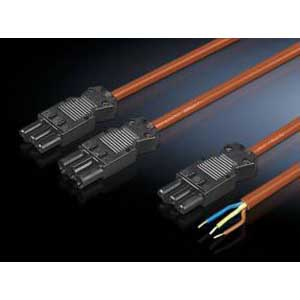 Rittal 4315100 Power Connection Cable; Orange, 3000 mm