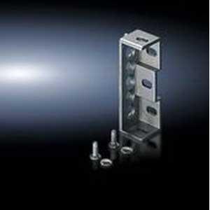 Rittal 4582500 Flat Baying Bracket; Sheet Steel, Zinc-Plated, Passivated
