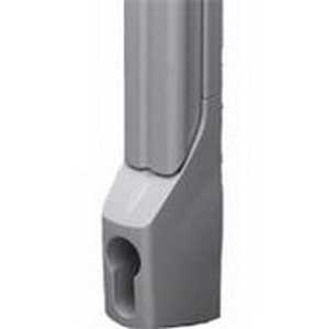 Rittal 8611070 TS Deluxe Handle; Die-Cast Zinc, RAL 7035 Light Gray, Powder-Coated