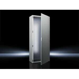Rittal 8605500 Single Door Freestanding Enclosure; 23.600 Inch Width x 19.700 Inch Depth x 78.700 Inch Height, 16 Gauge Sheet Steel, RAL 7035 Light Gray