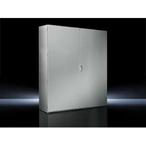 Rittal 8005500 TS8 Double Door Freestanding Enclosure; 39.400 Inch Width x 19.700 Inch Depth x 78.700 Inch Height, 16 Gauge Sheet Steel, RAL 7035 Light Gray