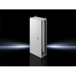 Rittal 8985500 Single Door Disconnect Freestanding Enclosure; 31.500 Inch Width x 19.700 Inch Depth x 70.900 Inch Height, 16 Gauge Sheet Steel, RAL 7035 Light Gray