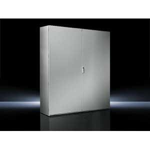 Rittal 8901420 TS8 Double Door Freestanding Enclosure; 70.900 Inch Width x 19.700 Inch Depth x 70.700 Inch Height, 16 Gauge Sheet Steel, RAL 7035 Light Gray