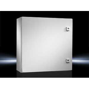 Rittal WM303012NC Single Door Wallmount Enclosure; 29.900 Inch Width x 11.800 Inch Depth x 29.900 Inch Height, 16 Gauge 304 Sheet Steel, RAL 7035 Light Gray, Wall Mount