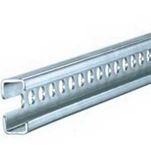 Rittal 4945000 C-Rail; 755 mm Length, Sheet Steel, Zinc-Plated, Passivated