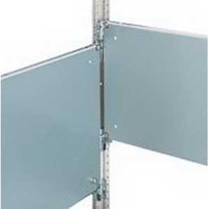Rittal 8614840 Partial Mounting Panel; 700 mm x 300 mm, 12 Gauge Sheet Steel, Zinc-Plated, Passivated