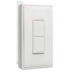 Hubbell Automation wiSTAR WIS-SRP-WH Self-Powered Wireless Single Rocker Switch Surface/On Wall Mount