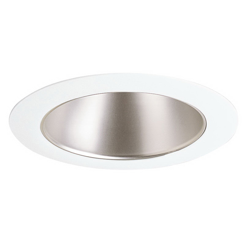 Juno Lighting 447WHZ-WH Low Voltage 4 Inch Adjustable Cone Trim; 50/75 Watt MR16, Wheat Haze Reflector with White Trim