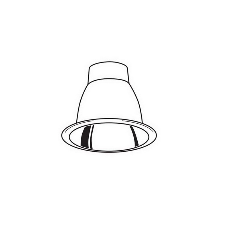 Juno Lighting V2016W-WH VuLite® Air-Loc 5 Inch Compatible Trim; White Cone