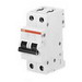 ABB S202-K3 Miniature Circuit Breaker; 3 Amp, 480Y/277 Volt AC, 2-Pole, DIN Rail Mount