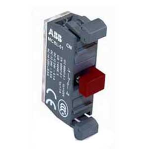 ABB MCB-10B Modular Contact Block; 6 Amp At 220/240 Volt AC, 8 Amp At 24/127 Volt AC, 1.1 Amp At 125 Volt DC, 5 Amp At 24 Volt DC, 1 - 600 Volt AC