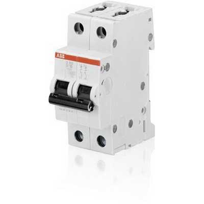 ABB S202-B20 Miniature Circuit Breaker; 20 Amp, 480Y/277 Volt AC, 2-Pole, DIN Rail Mount