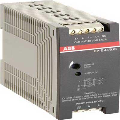 ABB 1SVR427032R0000 CP-E 24/2.5 Power Supply; 2.5 Amp, 24 Volt DC Output, 1 Phase, 1 Piece/Unit