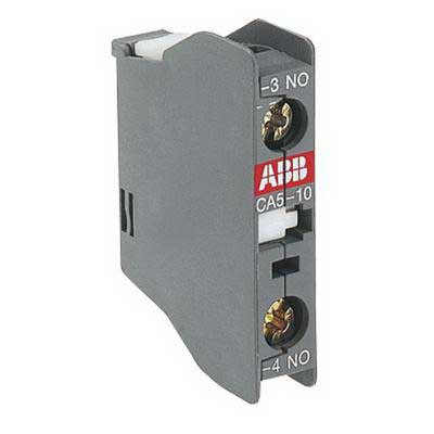 ABB CA5-10 Auxiliary Contact Block; 690 Volt Auxiliary Circuit, 24 Volt Main Circuit, 1 NO, Front Face Mount