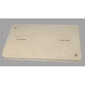 Quazite PG1730CA0009 PG Style Blank Box Cover With Bolt; 30 Inch Width x 2 Inch Depth x 17 Inch Height, Precast Polymer Concrete Fiberglass Reinforced, Gray